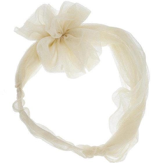 Cream mesh flower headband