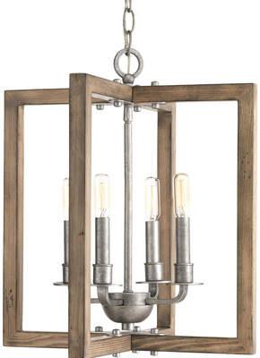 Union Rustic Daugherty 4-Light Square/Rectangle Chandelier