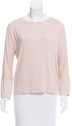 Pink Tartan Grosgrain-Accented Long Sleeve Top w/ Tags $65 thestylecure.com