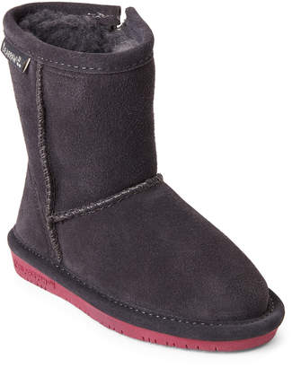 BearPaw Toddler Girls) Charcoal Emma Real Fur-Lined Boots