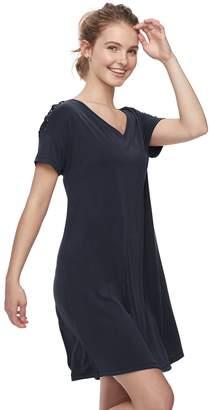 Mudd Juniors' Lace-Up Shoulder Dress
