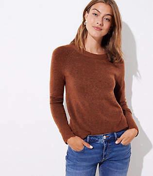 LOFT Petite Bar Back Sweater