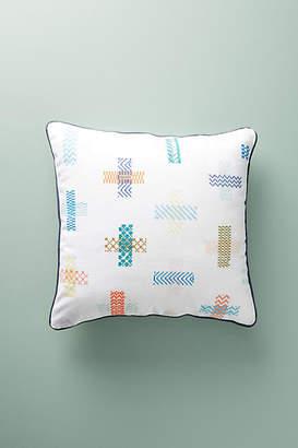 Hermine Van Dijck Cross-Stitched Pillow