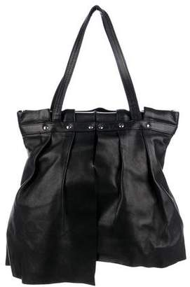 Clergerie Pleated Leather Tote