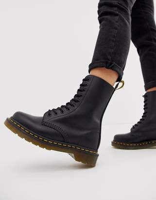 Dr. Martens 1490 10 Eye leather ankle boots in black