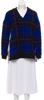 Thakoon Plaid V-Neck Sweater