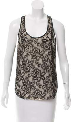 Amen Lace Faux Leather Top w/ Tags