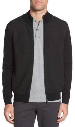 BOSS Emondo Regular Fit Wool Zip Sweater