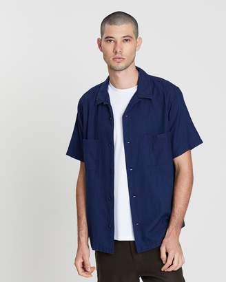 Vince Textured Cabana SS Shirt
