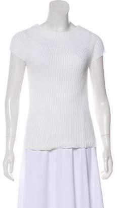 Armani Collezioni Sleeveless Rib Knit Top