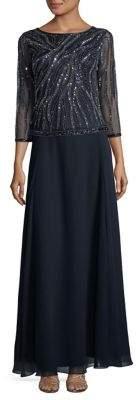 J Kara Sequined Column Dress
