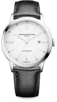 Baume & Mercier My Classima 10330 Stainless Steel& Leather Strap Watch