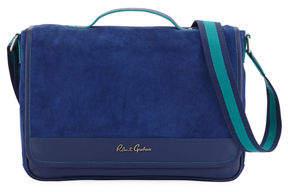 Robert Graham Large Suede Messenger Bag