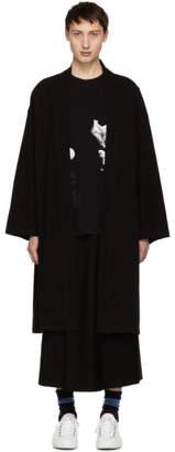 Lad Musician Black Long Kimono Coat