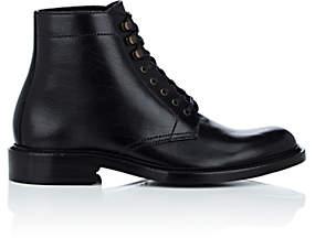 Saint Laurent Men's Army Leather Boots-Black