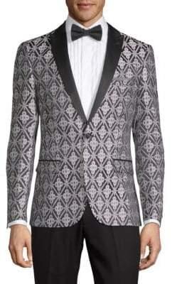 Brocade Tuxedo Jacket