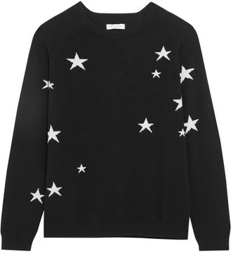 Chinti and Parker - Printed Cashmere Sweater - Black