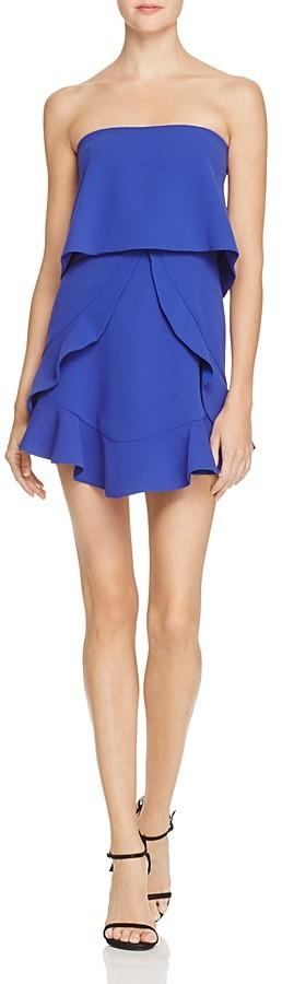 BCBGMAXAZRIABCBGMAXAZRIA Strapless Ruffle Popover Dress - 100% Exclusive