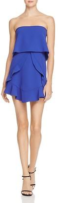 BCBGMAXAZRIA Strapless Ruffle Popover Dress - 100% Exclusive $298 thestylecure.com