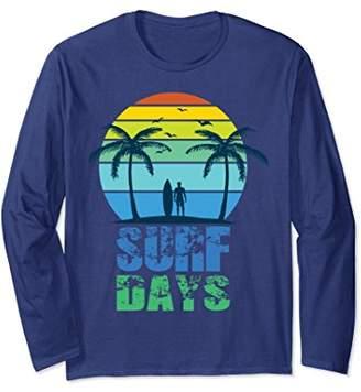 Surf days long sleeve tshirt for summer holidays