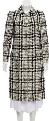 Oscar de la Renta Wool-Blend Tweed Coat
