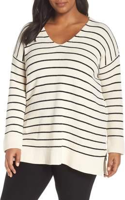 Eileen Fisher Stripe Organic Cotton Sweater