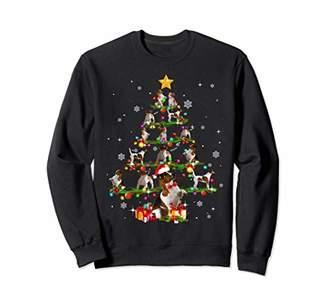 Up Star Jack Russell Terrier Tree Christmas santa Hat Paw Sweatshirt