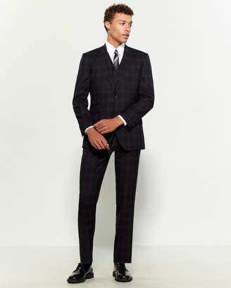 English Laundry 3-Piece Tartan Plaid Wool Suit