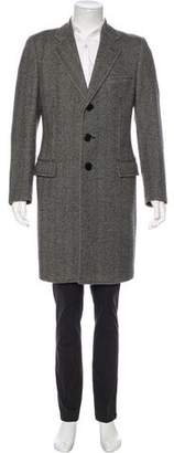 Dolce & Gabbana Herringbone Virgin Wool Coat