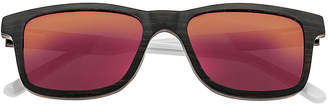 Earth Wood Full Frame Square Sunglasses-Womens