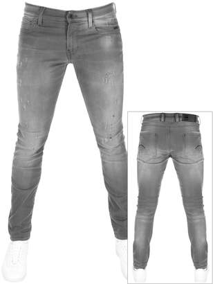3ca78a08c0 Mens Grey Distressed Jeans - ShopStyle UK