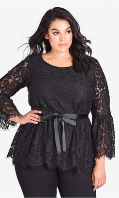 City Chic Lady Lace Top