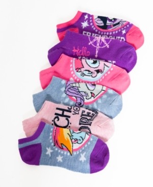 My Little Pony Angry Birds No-Show Ankle Socks, 5-Pack, Little Girls