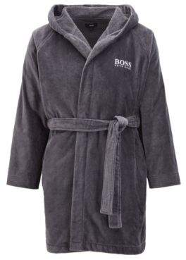 481e1b05 Short hooded dressing gown in Egyptian cotton