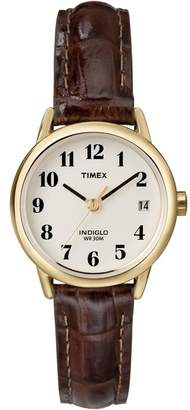 Timex Ladies Brown 'Easy Reader' Analogue Leather Strap Watch T20071