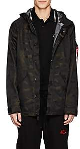 Alpha Industries Men's ECWCS Torrent Camouflage Tech-Twill Jacket-Black