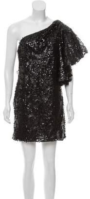 Mark & James by Badgley Mischka by Badgley Mischka One-Shoulder Sequin Dress