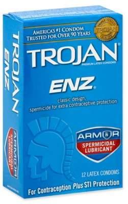 Trojan® ENZTM 12-Count Spermicidal Lubricant Premium Latex Condoms