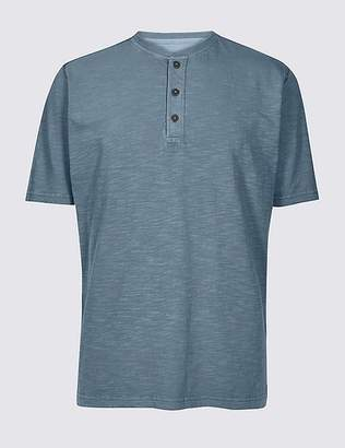 Marks and Spencer Pure Cotton Textured Authentic Top