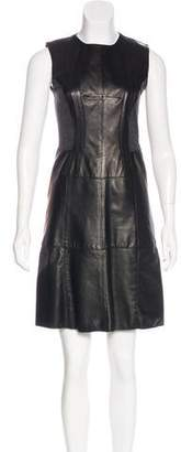 Derek Lam Leather & Wool Dress