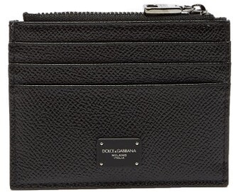 Dolce & Gabbana Grained Leather Cardholder - Mens - Black