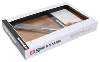 Swissmar Acacia Board And Cheese Knife Set