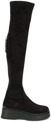 Miu Miu over-the-knee platform boots