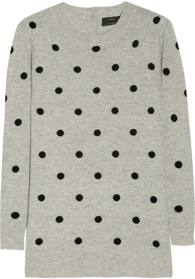 J.Crew Polka-dot cashmere sweater