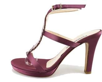Albano Sandals Woman Black Silk Swarovski Crystals