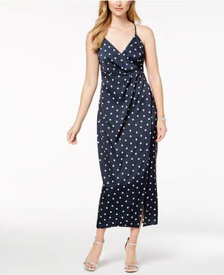 Bardot Dot-Print Wrap Dress