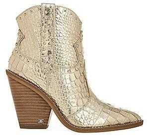 Sam Edelman Women's Iris Metallic Western Ankle Boots