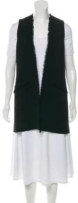 Elizabeth and James Fringe-Trimmed Blazer Vest