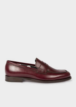 Paul Smith Men's Bordeaux Leather 'Wolf' Loafers
