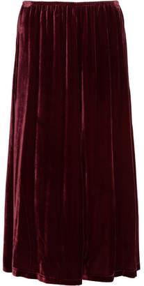 McQ Velvet Midi Skirt - Burgundy
